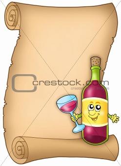 Cartoon wine list