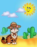 Cat in hat outdoor