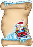 Winter parchment with Santa Claus 3