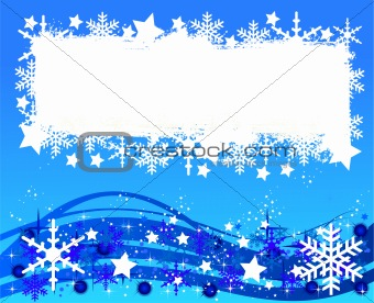 blue christmas background- space for your text