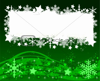 green christmas background- space for your text