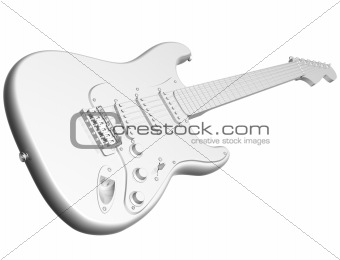 All white guitar