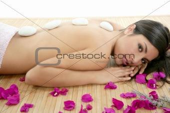 Beautiful indian woman portrait in a beauty spa
