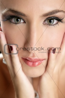 Beautiful fashion woman thinking expression