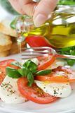 Caprese Salad with oil