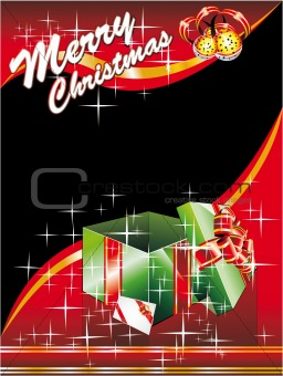 Christmas Card with Giftbox