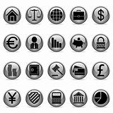 Vector business and finance buttons.