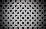 Patterned metal plate with circular perforations