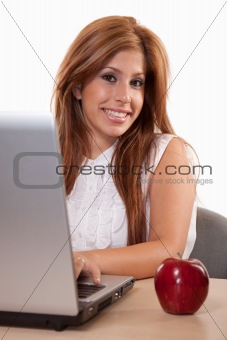 Attractive hispanic brunette businesswoman