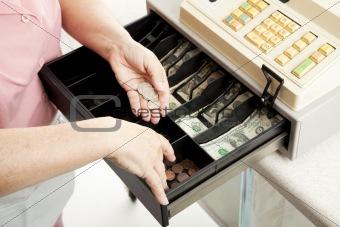 Cashiers Hands Make Change