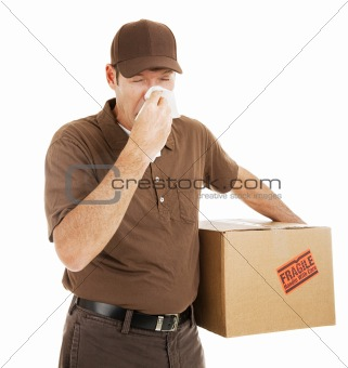 Delivery Man with Cold