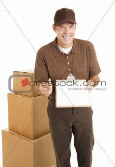 Delivery Man With Message