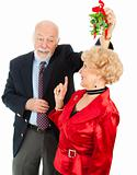 Senior Casanova with Mistletoe