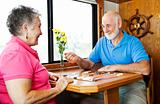 Seniors Play Backgammon