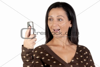 Attractive girl with a mobile
