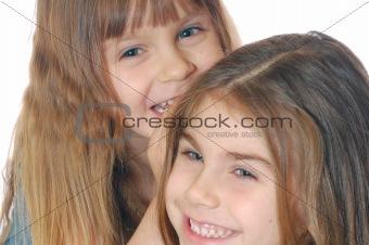 laughing children talking