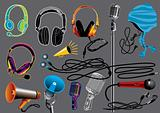 Microphones and Headphones - Music Set #5