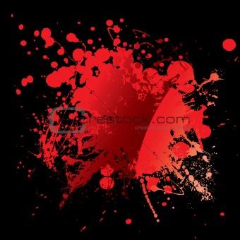 blood red black