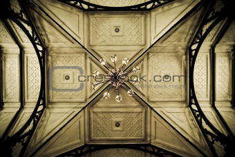 Old church ceiling
