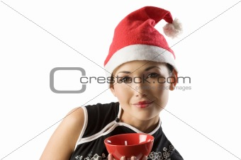 asian santa claus girl
