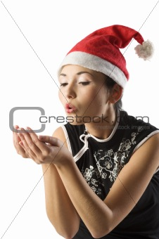 asian santa claus girl