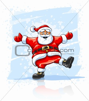 Merry Christmas Santa Claus dancing