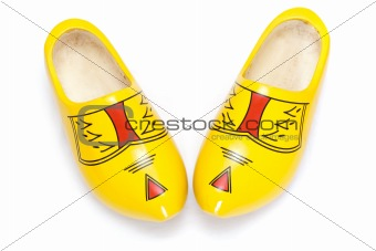 Pair of wooden shoes - klompen
