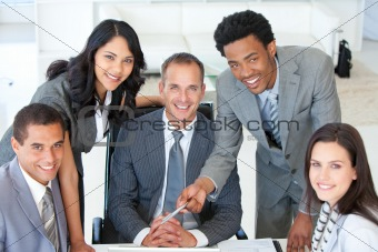 Business people working together in a project