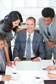 Business people discussing in office a plan