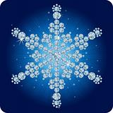 Christmas Diamond snowflake / vector illustration