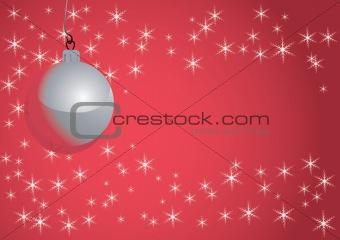 Christmas ball and snowflakes