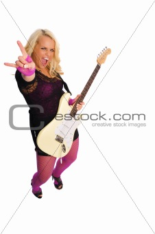 blonde rocker girl