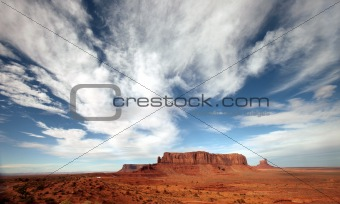 Bright Clouds in Monument Valley Arizona Navajo Nation