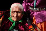 Elderly Navajo Native Woman Wearing Traditional Turquoise Jewelr