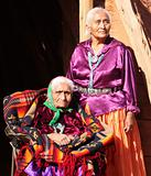 Navajo Wise Elderly Women Outdoors