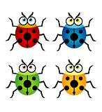 Vector illustration of a cute ladybug