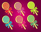 Cute Lollipop Vector