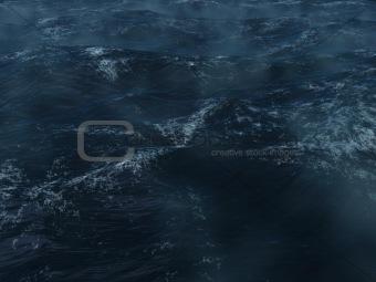 Blue ocean tempest