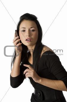 asian girl calling