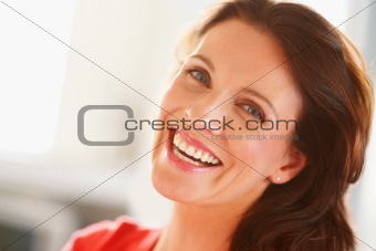 Portrait of a cheerful mature woman