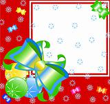 vector Illustration of a beautiful Christmas backgroun