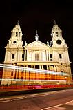 St. Paul&#39;s Cathedral London at night