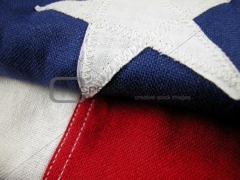 Close up of a USA Flag