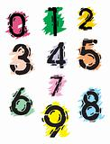 Collection of grunge numbers