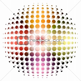 dotted sphere background