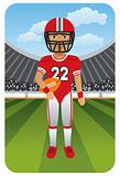 Sport Cartoons: American football player on the field