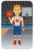Sport Cartoons: Basketball Player