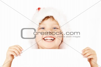 Portrait of little santa