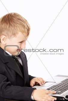 Little boy and the laptop