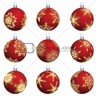 christmas balls set